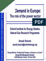 Energy Presentation27 GasDemandinEurope AHonore 2005