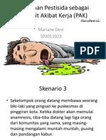 Penyakit Akibat Kerja yang berhubungan dengan keracunan pestisida