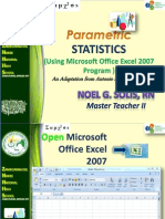 Parametric Stat Excel MS2007 Prez