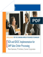 2504 EDI and IDOC Implementation for SAP Sales Order Processing