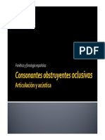 Presentación Obstruyentes Oclusivas - Articulación y Acústica