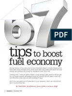 67 Tips to Boost Fuel Economy