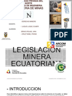 Trabajo pasos para concesion minera ecuatoriana
