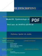 Curs 9 - Studii Descriptive