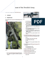 Equipment of the Swedish Army