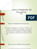 Banco Integrados de Proyectos (BIP)