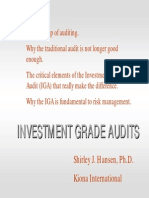 Investment Audit