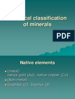Chemical Classification of Minerals