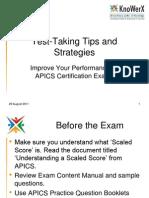 KEI APICS Test Taking Tips 110829