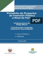 Infraestructura de Riego Menor - Caso Practico y Plantilla
