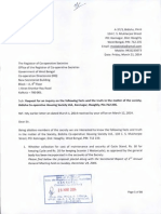 Complaint Letter submitted to the Registrar of Co-operative Societies on Wednesday, 26 March 2014