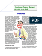 Consumer Decision Making Guide Watches 2002cdm