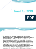 Need for SEBI
