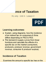 unit 4 - lesson 2 incidence of taxation