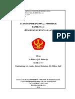Cover Standar Operasional