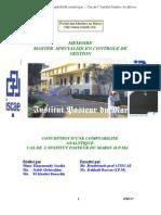 Memoire Conception Comptabilite Analytique Institut Pasteur