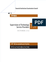 FFIEC ITBooklet SupervisionofTechnologyServiceProviders(TSP)