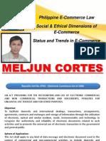 MELJUN CORTES E Commerce Law