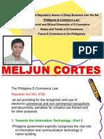 MELJUN CORTES ECommerce Law Preso