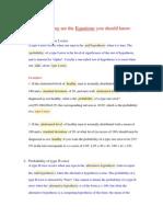 Formula of Biostatics