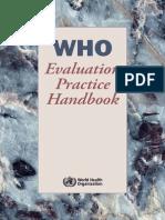 WHO Evaluation Practice Handbook