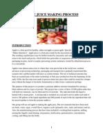 Apple Juice Making Process