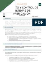 Proyecto y Control de Sistemas de Fabricacion