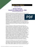 sicilian defense - grand prix attack with f4 + bb5