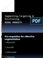 Segmentation in Rural - Sent