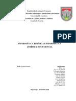 La Informática Jurídica y la Informática Jurídica Documental