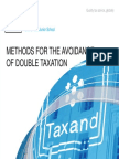 Taxand Asia Junior School 2014 - DTA Day 3 Methods for Avoidance of Double Taxation
