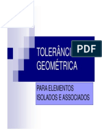 TOLERÂNCIA GEOMÉTRICA - DESENHO TECNICO