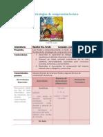 Planeación de Estrategias de Comprensión Lectora
