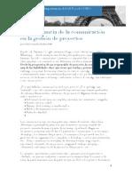 La Importancia de La Comunicación en La Gestión de Proyectos V1 R0