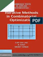 Iterative Methods in Combinatorial Optimization