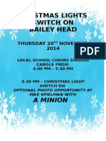 Christmas Lights Switch on Poster 2014