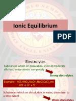 Ionic Equilibrium