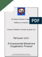 ECMO Protocol Australia