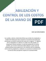 Costos I-contabilización y Control de La Mano de Obra