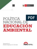 Politica Nacional de Educacion Ambiental