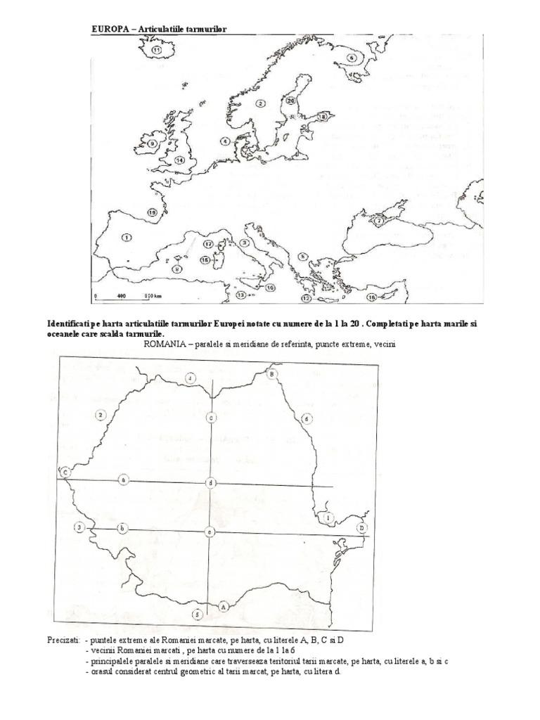 Articulatiile Tarmurilor Europei Harta