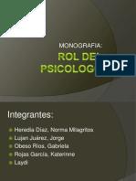 Rol Del Psicólogo, Monografía