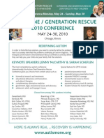 Autism One / Generation Rescue 2010 Conference, May 24-30, Chicago, Illinois