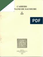 CFS_SOFIA_[Résumé Thèse]_Le Problème de La Définition Des Entités Linguistiques Chez F. de Saussure_(2011)_Tiré_à_part