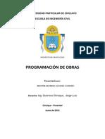 Programacion de Obras PROGRAMACION DE OBRAS