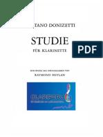 Donizetti Clarinet Study