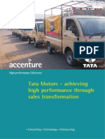 Accenture Tata Motors Sales Transformation Credential