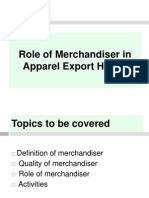 Role of Merchandiser in Apparel Export House