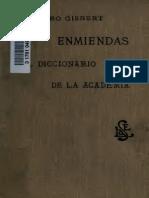 Enmiendas al Diccionario de la Academia - M. Toro Gisbert
