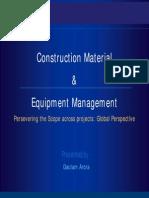 Construction Material & Equipment Management